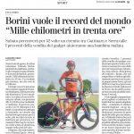 Tentativo di Record del Mondo in Bici