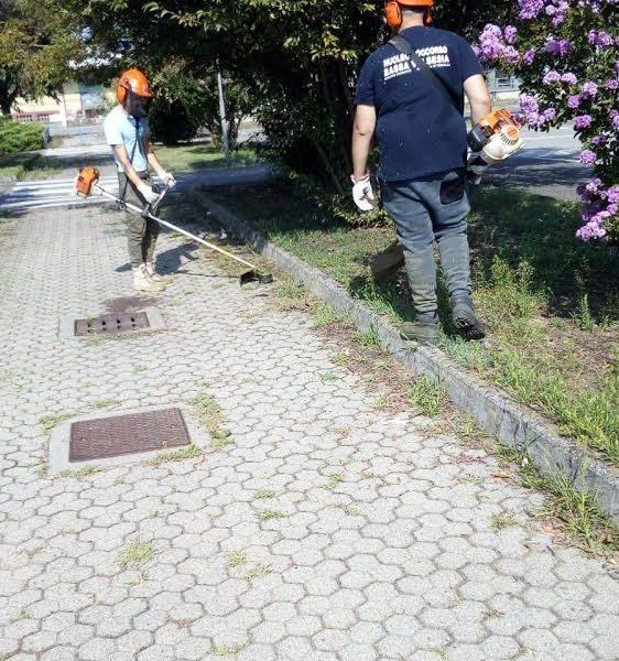 Volontari del Nucleo Soccorso al lavoro