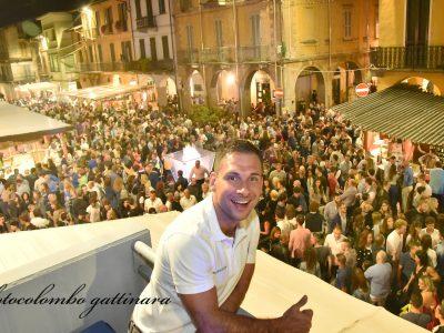 Il Sindaco, Daniele Baglione, soddisfatto tra le migliaia di visitatori per la Festa dell'Uva di Gattinara
