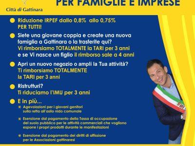A Gattinara, meno tasse per famiglie e imprese.