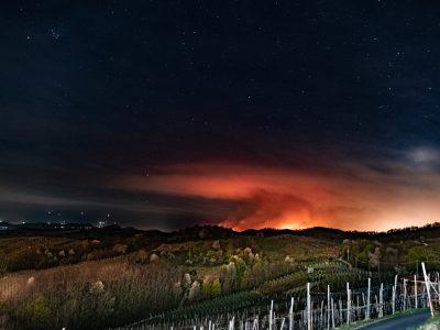 Incendio devastante in Valsesia e Valsessera