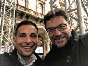 Giancarlo Giorgetti con Daniele Baglione