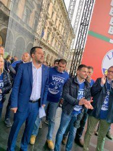 Matteo Salvini e Daniele Baglione