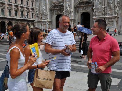 Promozione Festa Uva a Milano, Piazza Duomo