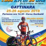 Locandina che mostra il ciclista borini nel tentativo di battere il record del mondo