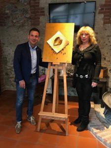 Daniele Baglione e l'artista Nikita Kroft