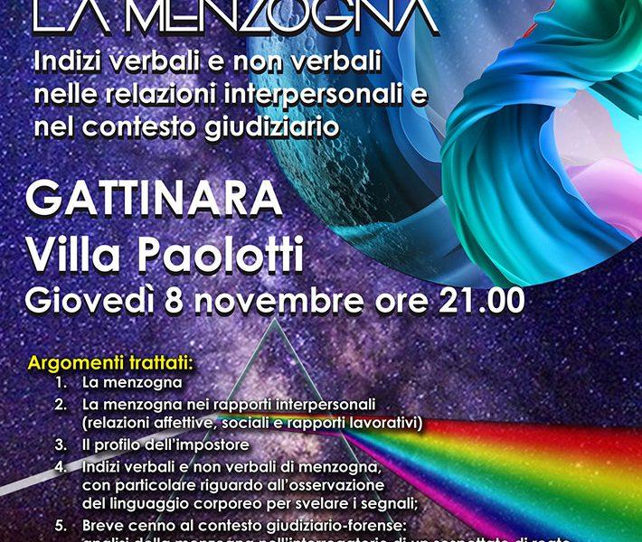 La Menzogna: come scoprire i bugiardi, incontro a Gattinara