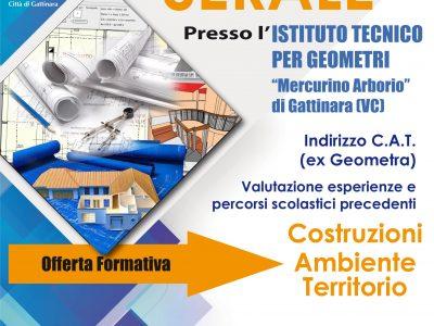 """CORSI SERALI ALL'I.T. """"MERCURINO"""" DI GATTINARA"""