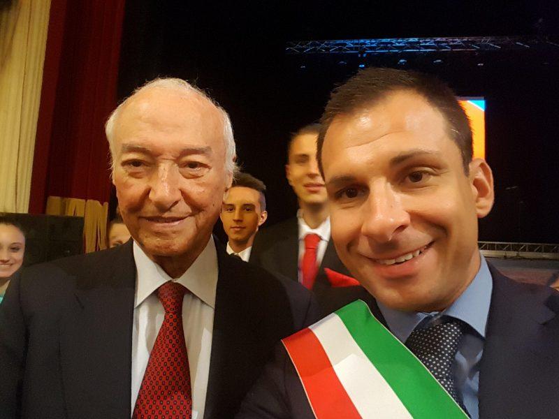 Piero Angela e Daniele Baglione
