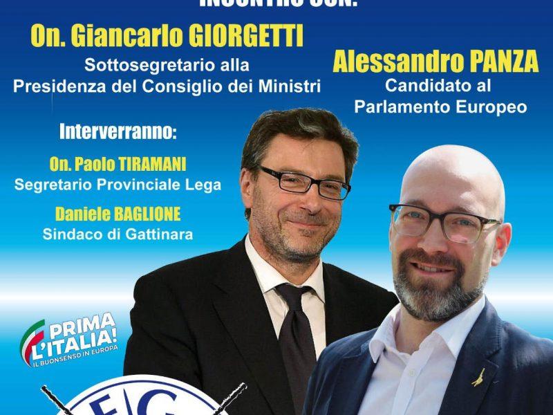Giorgetti e Panza a Gattinara