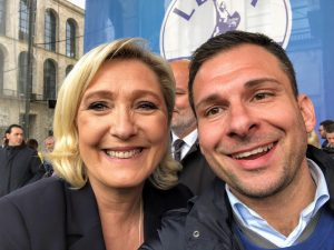 Marine Le Pen e Daniele Baglione