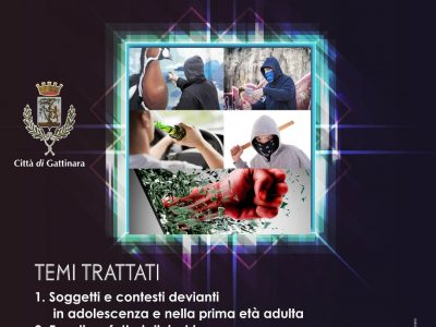 LA DEVIANZA GIOVANILE: CONFERENZA DI CRIMINOLOGIA A GATTINARA