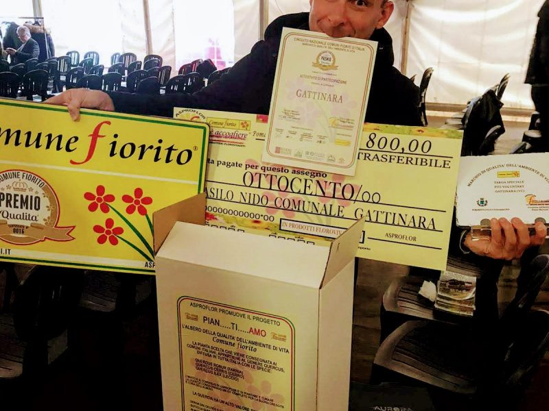 GATTINARA FA INCETTA DI PREMI AL CONCORSO COMUNI FIORITI 2019