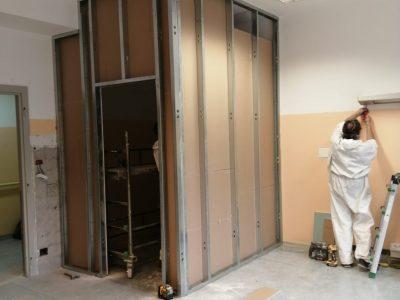 Emergenza Coronavirus - Proseguono i lavori all'Ospedale di Gattinara